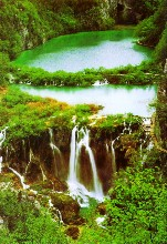"Nationalpark Plitvice, Drehort Indianerfilme ""Winnetou""."